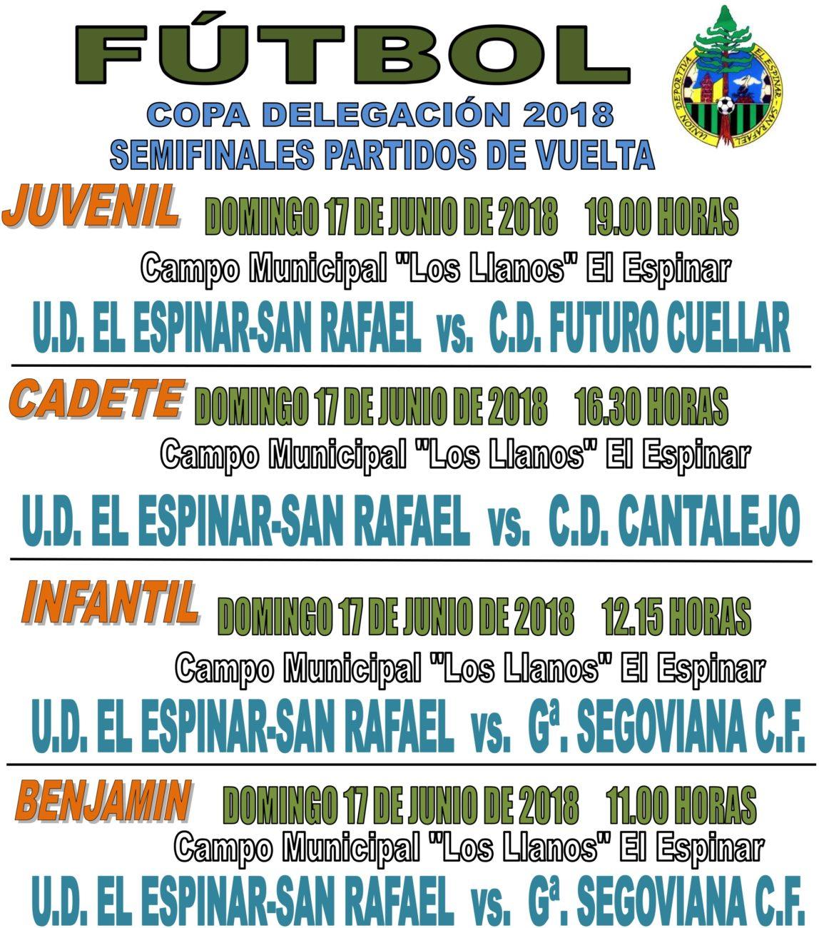 Partidos de vuelta de semifinales de la Copa Delegación