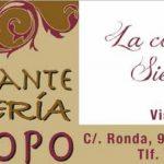 RESTAURANTE EL CHOPO: C/ LA RONDA 98 EL RUBIO (SEVILLA)